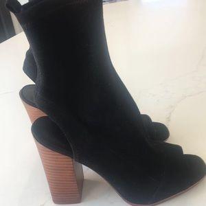 Aldo Black Suede Heels (new!)
